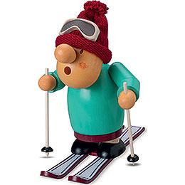 Räuchermännchen Skifahrer - 15 cm