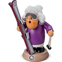 Räuchermännchen Skifahrerin - 17 cm