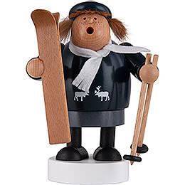 Räuchermännchen Skifahrerin - 19 cm