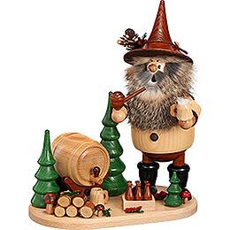Räuchermännchen Waldwichtel auf Brett Braumeister - 26 cm