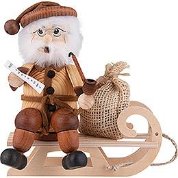 Räuchermännchen Weihnachtsmann auf Schlitten - 17 cm