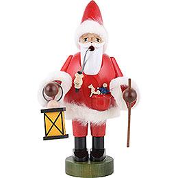 Räuchermännchen Weihnachtsmann mit Laterne - 21 cm