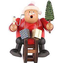Räuchermännchen Weihnachtsmann mit Schlitten - 18 cm