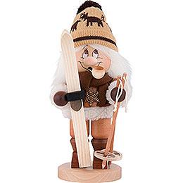 Räuchermännchen Wichtel Skifahrer - 31 cm