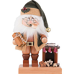 Räuchermännchen Wichtel Weihnachtsmann am Kamin - 28,5 cm