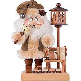 Räuchermännchen Wichtel Weihnachtsmann mit Bank - 28,5 cm