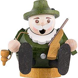 Räuchermännchen mini sitzend - Förster - 7 cm