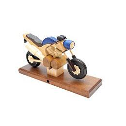 Räuchermotorrad Touring Blau 27x18x8 cm