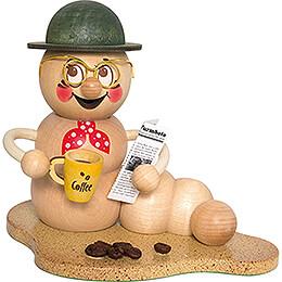 Räucherwurm Kaffeepause-Rudi - 14 cm
