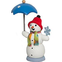 Räucherfräulein Schneefrau mit Schirm - 13 cm