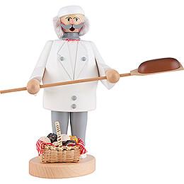 Räuchermännchen Bäcker weiß - 22 cm