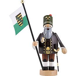 Räuchermännchen Bergmann mit Fahne - 20 cm