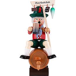 Räuchermännchen Bierfaßreiter mit Musik - 25 cm