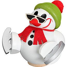 Räuchermännchen Cool-Man mit Schlittschuh - Kugelräucherfigur - 12 cm