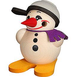 Räuchermännchen Cool-Man mit Ski & Pfanne - Kugelräucherfigur - 9 cm