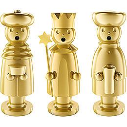 Räuchermännchen Die heiligen drei Könige - Edelstahl, vergoldet - 15 cm