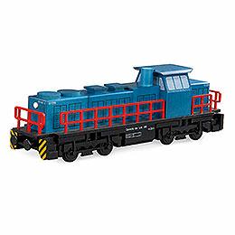 Räuchermännchen Diesellokomotive - 25x6x8 cm