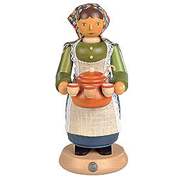 Räuchermännchen Glühweinverkäuferin - 25 cm