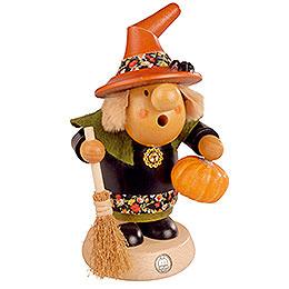 Räuchermännchen Halloween-Hexe mit Kürbis - 11 cm