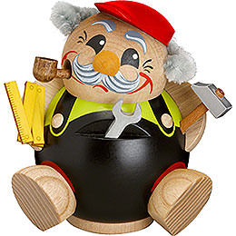 Räuchermännchen Heimwerker - Kugelräucherfigur - 12 cm