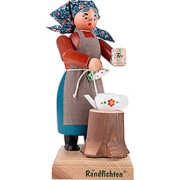 Räuchermännchen Holzmichel sei Frau - 20 cm