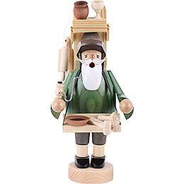 Räuchermännchen Holzwarenhändler - 23 cm