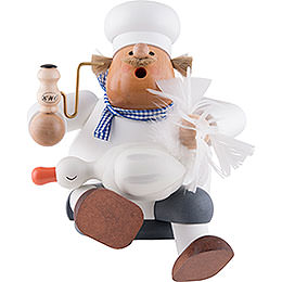 Räuchermännchen Koch mit Gans - 25 cm
