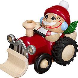 Räuchermännchen Nikolaus im Traktor - Kugelräucherfigur - 11 cm