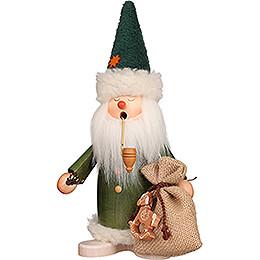 Räuchermännchen Schlafmütze Weihnachtsmann grün - 26,5 cm