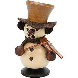 Räuchermännchen Schneebub mit Geige natur - 10,5 cm