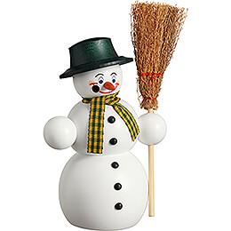 Räuchermännchen Schneemann mit Besen - 16 cm