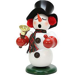 Räuchermännchen Schneemann mit Glocke - 23 cm
