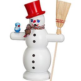 Räuchermännchen Schneemann mit rotem Hut - 16 cm