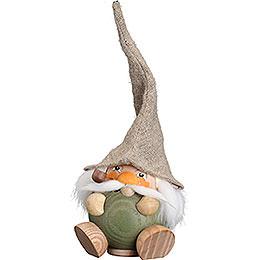 Räuchermännchen Waldzwerg moosgrün - Kugelräucherfigur - 18 cm