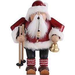 Räuchermännchen Weihnachtsmann auf Skier - 20 cm