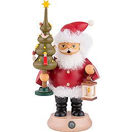 Räuchermännchen Weihnachtsmann mit Baum - 20 cm