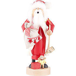 Räuchermännchen Weihnachtsmann mit Puppe - 25 cm
