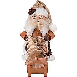 Räuchermännchen Weihnachtsmann mit Schlitten - 28,0 cm