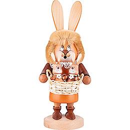 Räuchermännchen Wichtel Häsin mit Hasenbabys - 34,5 cm