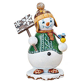 Räuchermännchen Wichtel Schneemann Schneegestöber - 14 cm