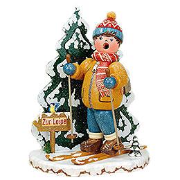 Räuchermännchen Winterkinder Schneeschuhfahrer - 20 cm