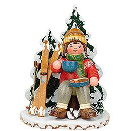 Räuchermännchen Winterkinder Schneeschuhfahrerin - 20 cm
