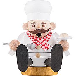 Räuchermännchen mini sitzend - Koch - 8 cm