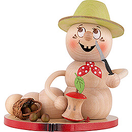 Räucherwurm Apfel Rudi - 14 cm