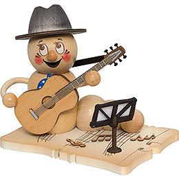 Räucherwurm Gitarrenspieler Rudi - 14 cm