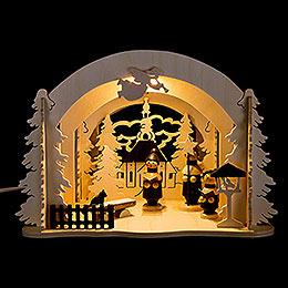 Raumleuchte als Diorama Seiffener Markt - 19 cm