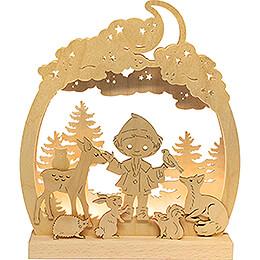 Romantic Lamp - Sandman in the Forest - 24x28 cm / 9.4x11 inch