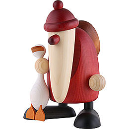 Santa Claus with Auguste, the Goose - 19 cm / 7.5 inch