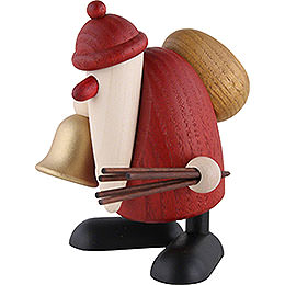 Santa Claus with Bell and Rod - 9 cm / 3.5 inch
