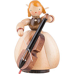 Schaarschmidt Angel with Cello - 4 cm / 1.6 inch